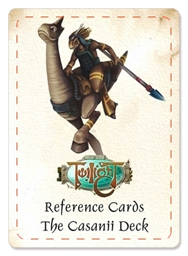 Reference Cards - The Casanii (18 cards)