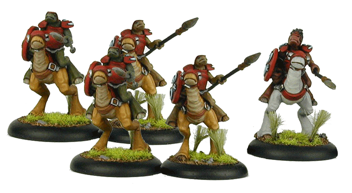 Knight Unit (Captain and 3 Knights) - Click Image to Close